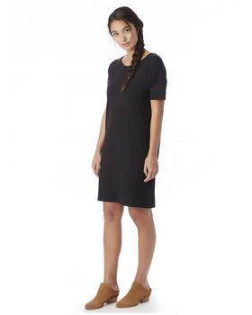 Alternative 2902 Womens Straight Up Cotton Modal T-Shirt Dress