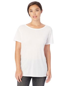Alternative 3098B2 Ladies Cross-Back Slinky Jersey T-Shirt
