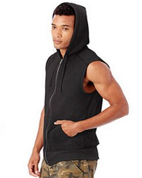 Alternative 5069BT Mens French Terry Warm Up Hoodie at ApparelnBags.com