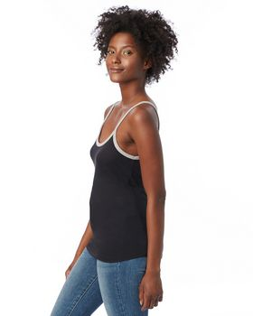 Alternative 5094BP Ladies Ringer Vintage Jersey Cami Tank Top