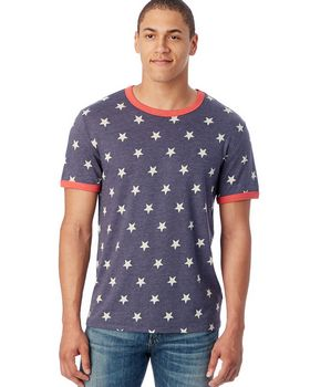 Alternative 5103EA Mens Eco-Jersey Ringer T-Shirt