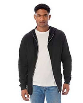 Alternative 7601B Mens Weekender Vintage Heavy Knit Full-Zip Hoodie