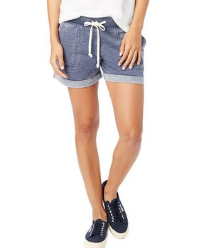 Alternative 8630F Ladies Lounge Burnout French Terry Shorts