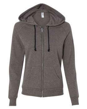 Alternative 9573ey Twist Adrian Hooded Full-Zip Sweatshirt
