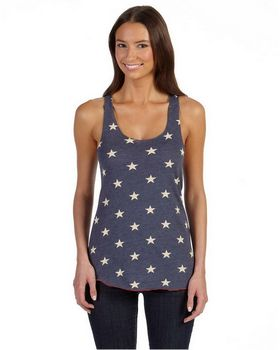 Alternative AA1927P Fashion Now Ladies Meegs Printed Racer Tank