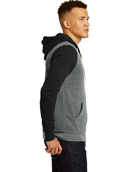 Alternative AA32023 Colorblock leece Zip Hoodie