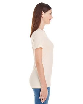 American Apparel 23215OR Ladies Organic Fine Jersey Classic T-Shirt at ApparelnBags.com