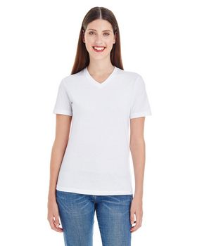 American Apparel 2356 Ladies Fine Jersey Short-Sleeve Classic V-Neck at ApparelnBags.com