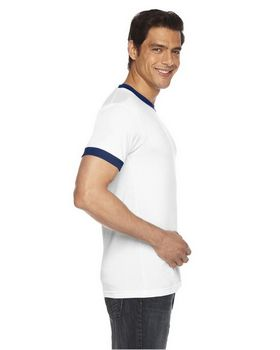 American Apparel BB410 Unisex Poly Cotton Short Sleeve Ringer T Shirt