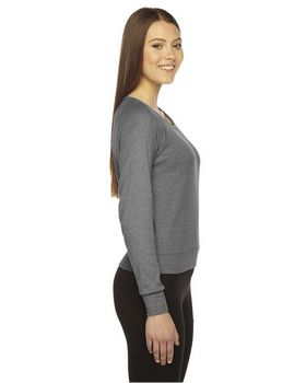 American Apparel BR394 Ladies Triblend Lightweight Raglan Pullover