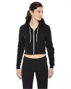 American Apparel F397 Ladies Cropped Flex Fleece Zip Hoodie