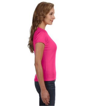 Anvil 1441 Ringspun Ribbed Scoop Neck T-Shirt