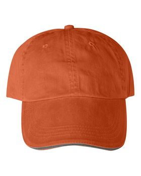 Anvil 166 6-Panel Pigment-Dyed Twill Sandwich Cap