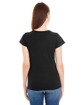Anvil 380VL Lightweight Ladies Fitted V-Neck Tee at ApparelnBags.com