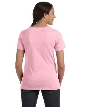 Anvil 391 Ladies' Sheer Scoop Neck Tee - Shop at ApparelnBags.com