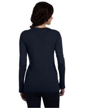 Anvil 399 Ladies Sheer Long-Sleeve Scoop Neck T-Shirt