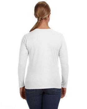 Anvil 884L Ladies Ringspun Long Sleeve T Shirt