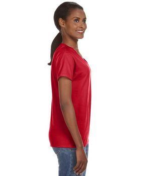 Anvil 88VL Ladies Ringspun V Neck T Shirt