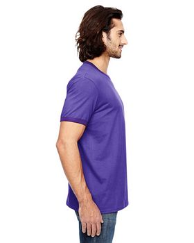 Anvil 988 Adult Lightweight Ringer T-Shirt