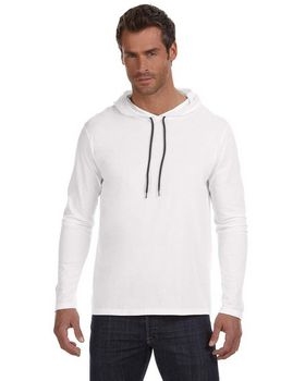 Anvil A987 Adult Lightweight Long Sleeve Hooded Tee