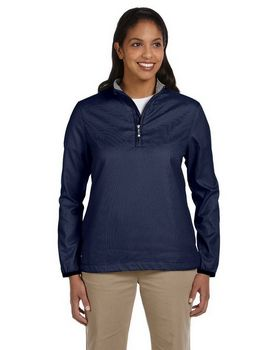 Ashworth 5358C Ladies Houndstooth Half-Zip Jacket