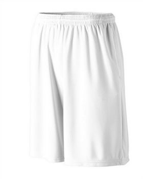 Augusta Sportswear 803 Longer Length Wicking Short with Pockets