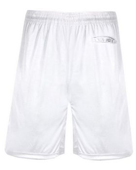Badger 4110 Pocket Trainer Shorts White