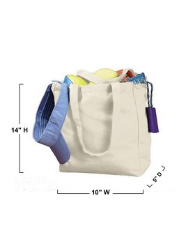 BAGedge BE008 Canvas Book Tote