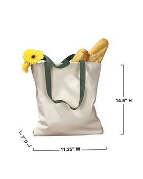BAGedge BE010 Canvas Tote with Contrasting Handles