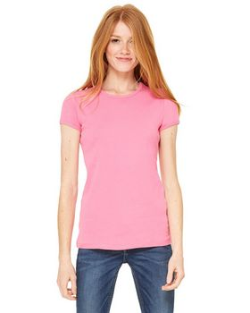 Bella + Canvas 1001 Ladies 1x1 Baby Rib Crew Neck T-Shirt