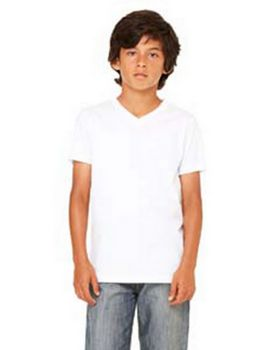 Bella + Canvas 3005Y Youth V-Neck Jersey T-Shirt