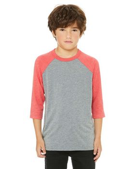 Bella + Canvas 3200Y Youth Baseball T-Shirt