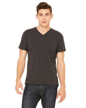 Bella + Canvas 3415C Men's S-Sleeve V-Neck Triblend