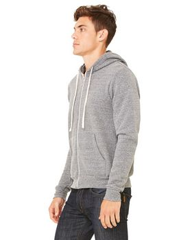 Bella + Canvas 3909 Unisex Triblend Sponge Fleece Full-Zip Hoodie