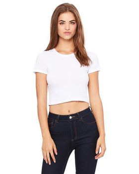 Bella + Canvas 6681 Ladies Poly Cotton Crop T Shirt