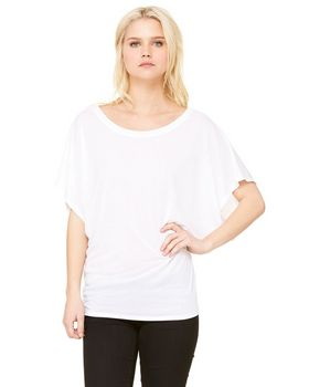 Bella + Canvas 8821 Ladies Flowy Draped Sleeve Dolman T-Shirt
