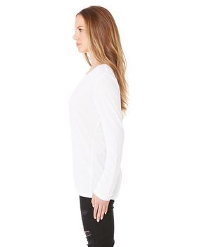 Bella + Canvas 8855 Ladies Long-Sleeve V-Neck