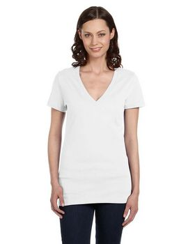 Bella + Canvas B6035 Ladies Jersey Deep V-Neck T-Shirt
