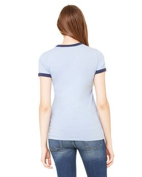 Bella + Canvas B6050 Ladies Heather Jersey Ringer