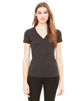 Bella + Canvas B8435 Ladies Triblend Deep V-Neck Tee
