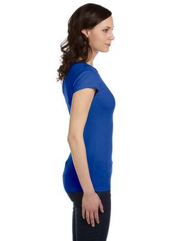 Bella + Canvas 8701 Ladies Kimberley Sheer Rib Longer-Length T-Shirt