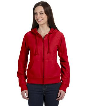 Bella + Canvas B7007 Ladies Full-Zip Raglan Hoodie