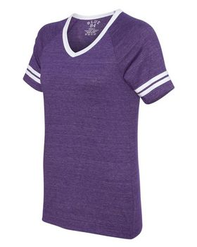 Blue 84 JTVR Juniors Triblend V-Neck Ringer T-Shirt