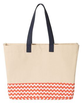 Brookson Bay BB100 Patterned Bottom Beach Tote