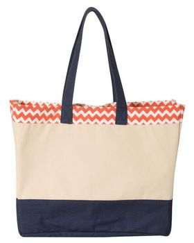 Brookson Bay BB300 Patterned Top Beach Tote