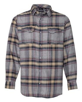 Burnside 8219 Snap Plaid Flannel Shirt