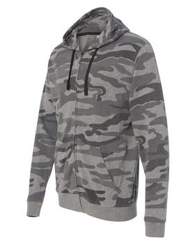 Burnside 8615 Camo Hooded Full-Zip Sweatshirt