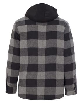 Burnside 8620 Quilted Flannel Full-Zip Jacket