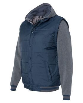 Burnside 8701 Nylon Vest with Fleece Sleeves