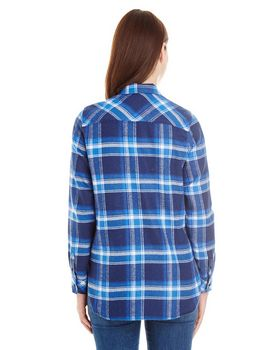 Burnside B5210 Ladies Plaid Boyfriend Flannel
